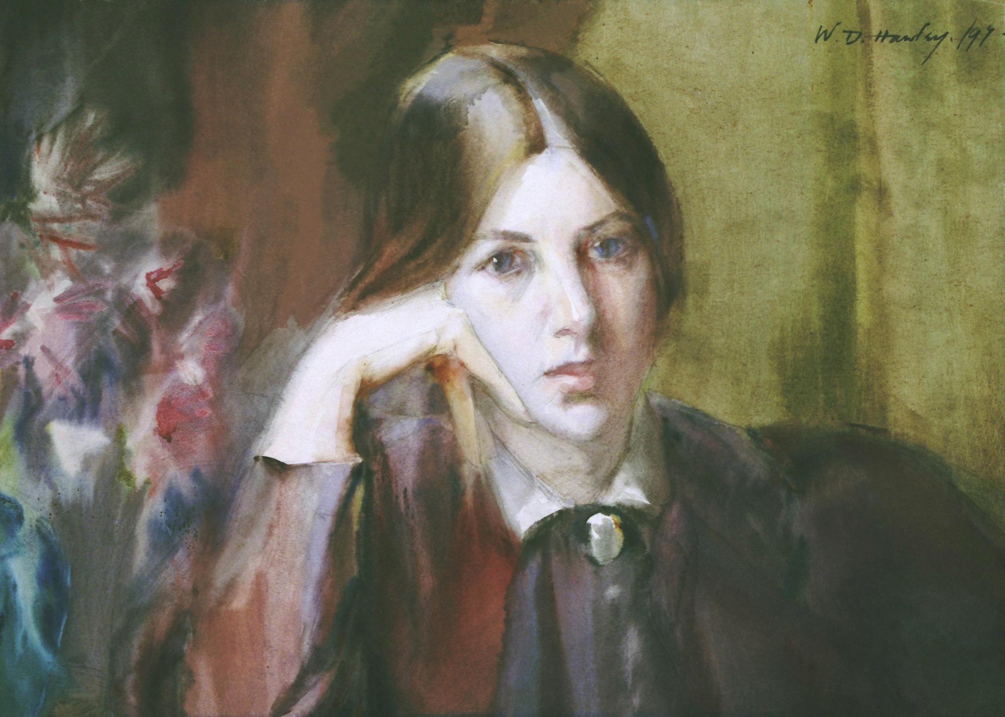 Wilhelmina Douglas Hawley-Self Portrait